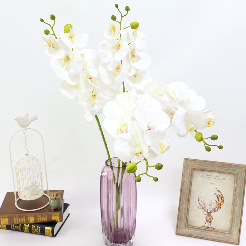 Artificial Orchid Flower 4 color Real Touch Artificial Butterfly Orchid flores artificial Wedding decoration home Festival Decor (9)