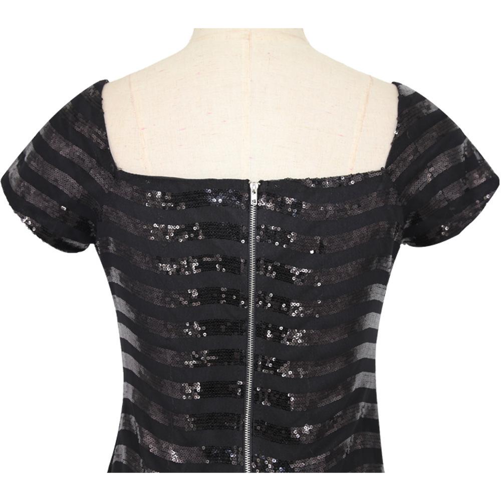 black sequin dress 2193 (5)