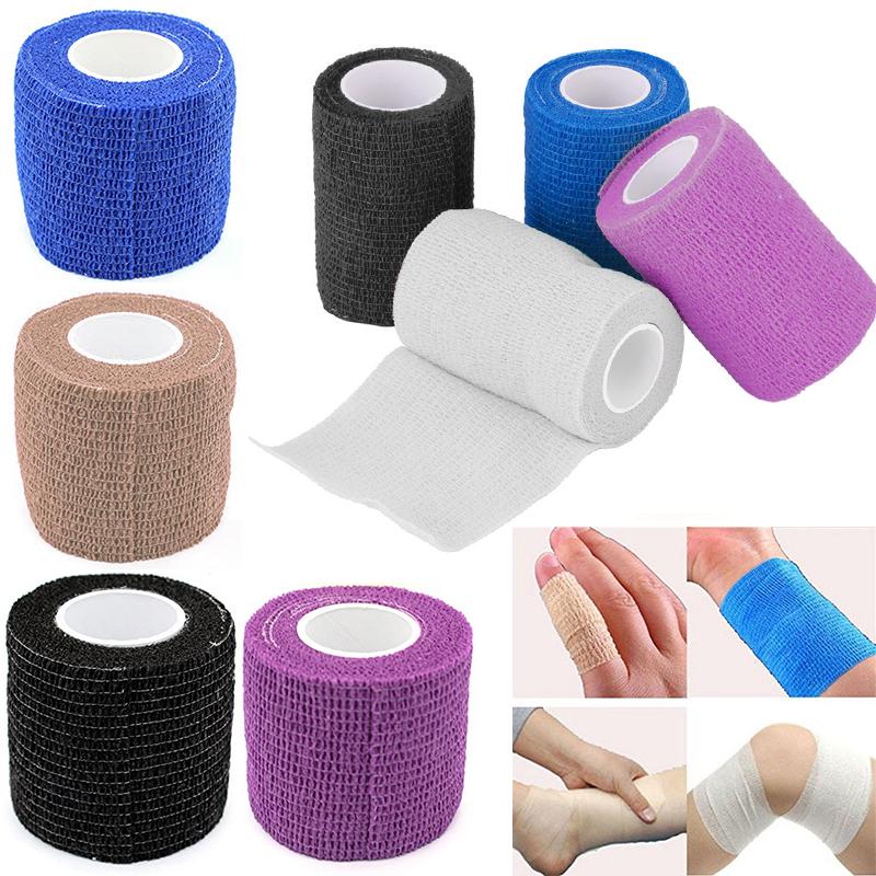 5M esterna traspirante Medical Tape Waterdicht Athletic Aid elastische Bandage Auto Zelfklevende Wrap Knie Spier Protector