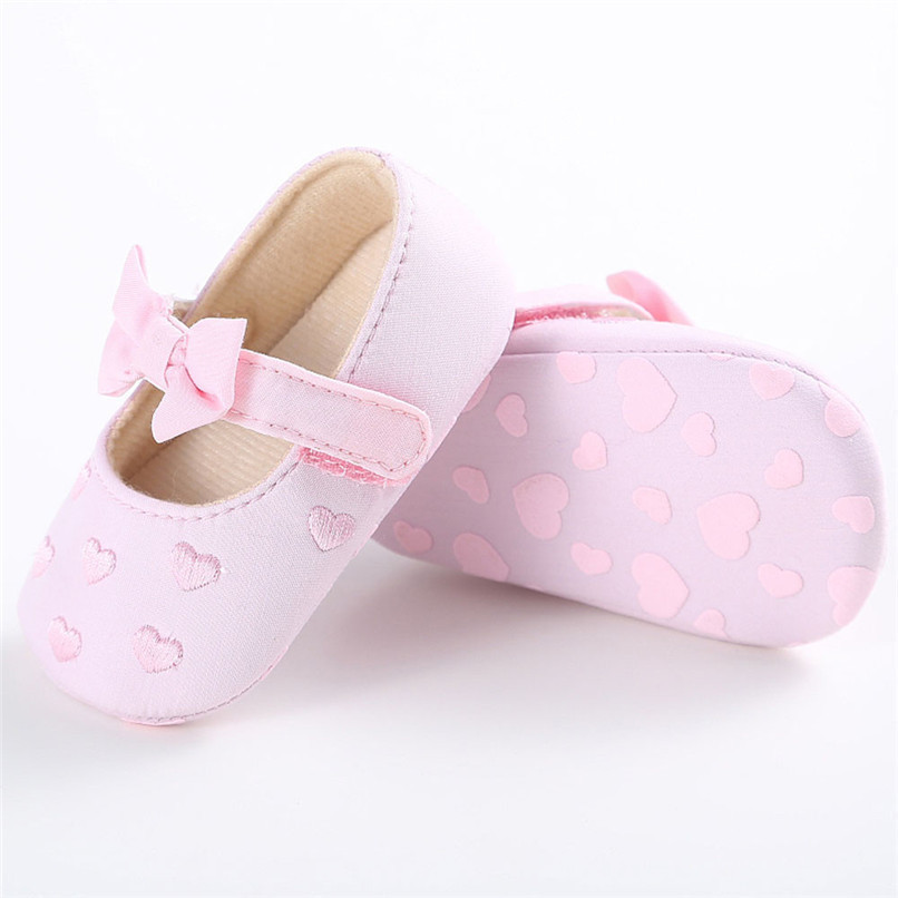 Summer Baby Girls Shoes Toddler Kids Baby Girl Canvas Solid Bow-knot Soft Sole Anti-slip Shoes Baby First Walker Shoes M8Y11 (20)