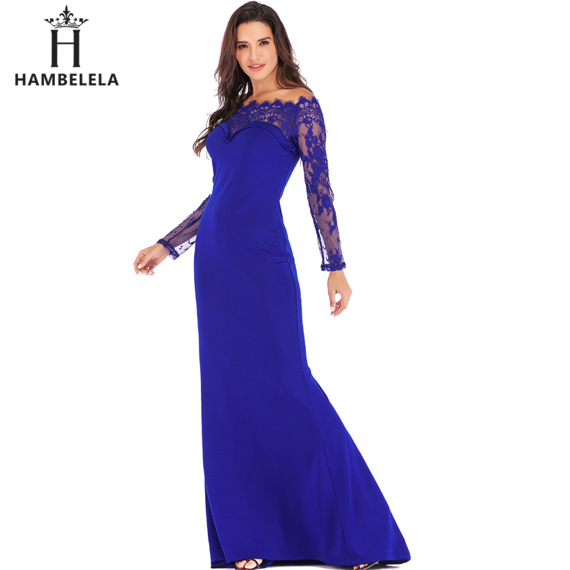 HAMBELELA Robe De Soiree Longue Long Sleeve Mermaid Evening Dresses Formal Evening Gowns China Vestido Longo Bodycon Lace Dress (13)