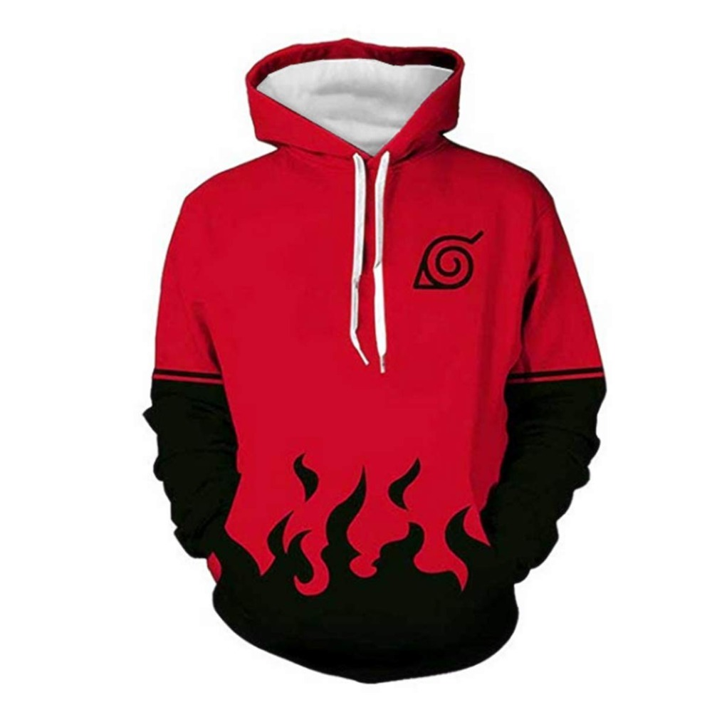 Naruto0 Anime 3D Printed Hoodie Hooded Sweatshirts Coat Zipper Jacket Sportswear