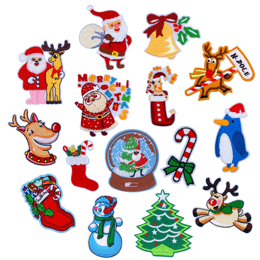 Cute Pretty Christmas X-Mas White Bell Embroidered Iron on Patch Free Postage
