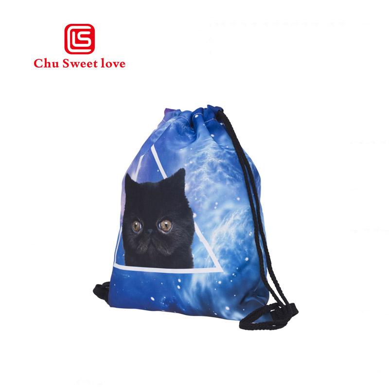Les Chats Kitty filles avec cordon de serrage sac à dos Sac de gym String Cinch Chiffon