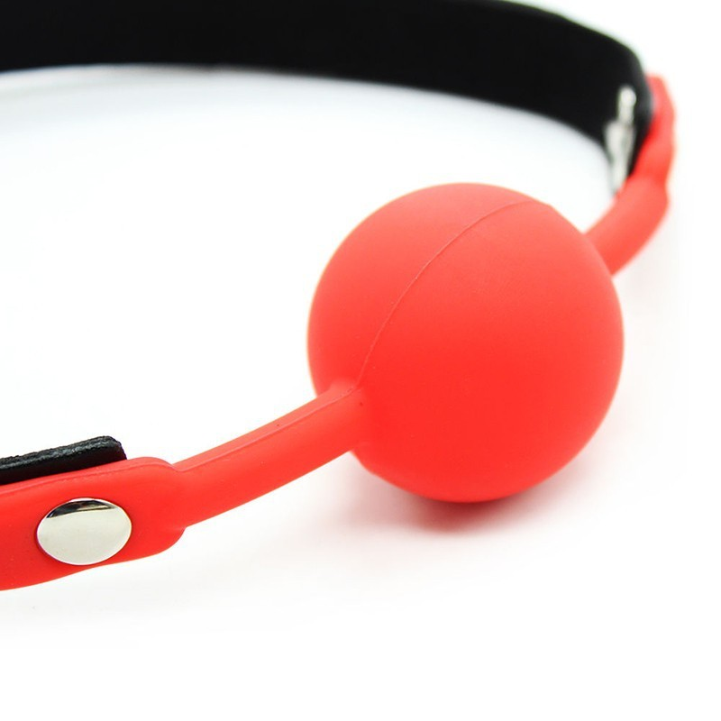 PU Leather Belt Red Silicone Ball Mouth Gag Oral Fixation Mouth Stuffed Sex Product Adult Sex Toys For Couples Flirting Sex Toys