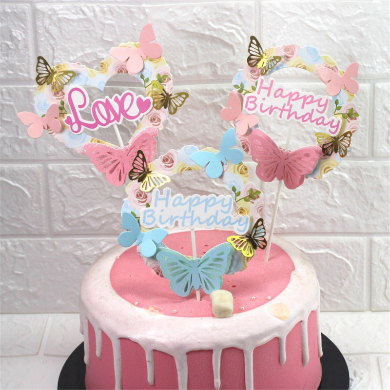 Awesome Wholesale Butterfly Birthday Cake Buy Cheap In Bulk From China Funny Birthday Cards Online Overcheapnameinfo