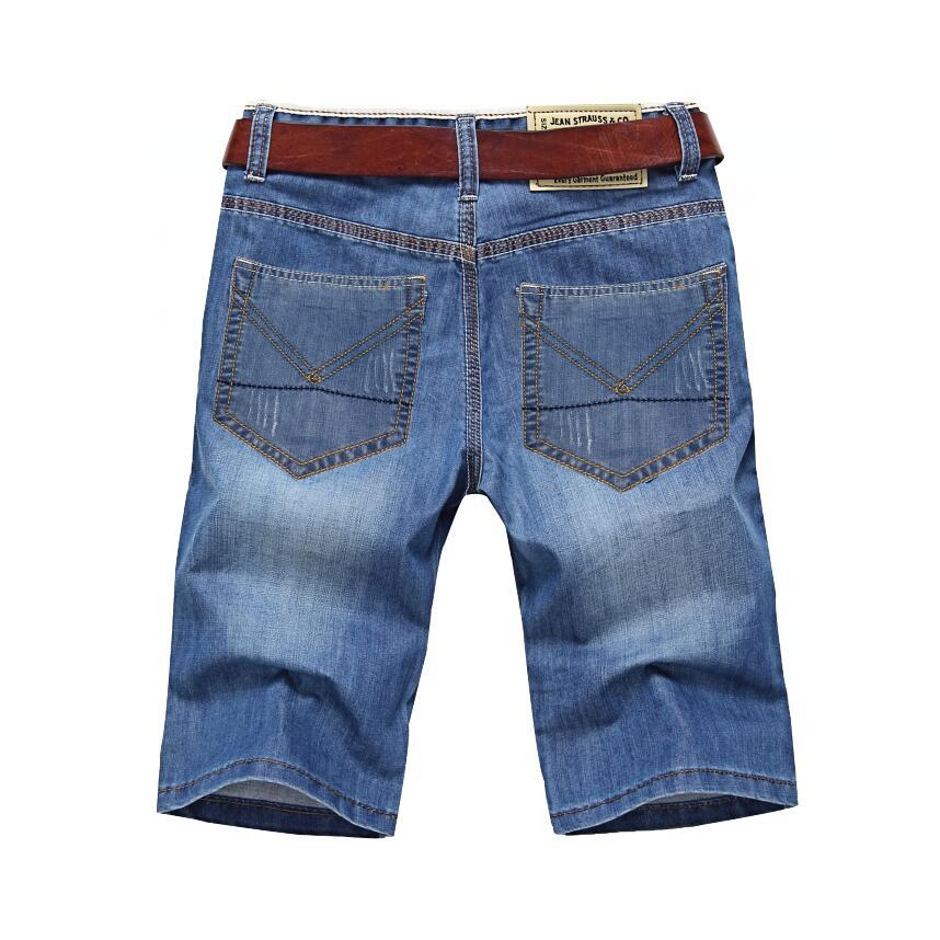 ClassDim Shorts Denim Homme Bonne qualité Jeans court Hommes Coton solides droites courtes Jeans Homme Bleu Casual Court Jeans T200110