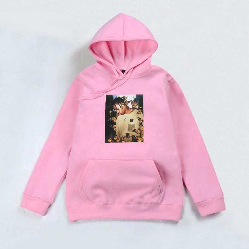 Travis Scott Butterfly Effect Black Hip Hop Hoodie Hooded Sweatshirt Top by AF