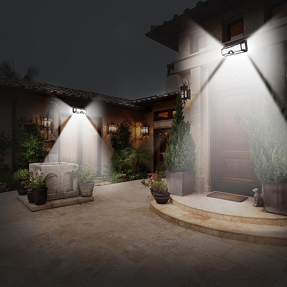 136 LED Solar Street Light For Home Garage Garden Light Solar Powered Wall Street Lamp with Motion Sensor Solar Light Waterproof (7)