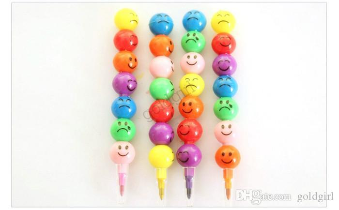 New Arrival Stationery Colorful Watercolor Brush Smiley Cartoon Smile Pens Pencil Marker Children Gourd Toys Gifts Pen