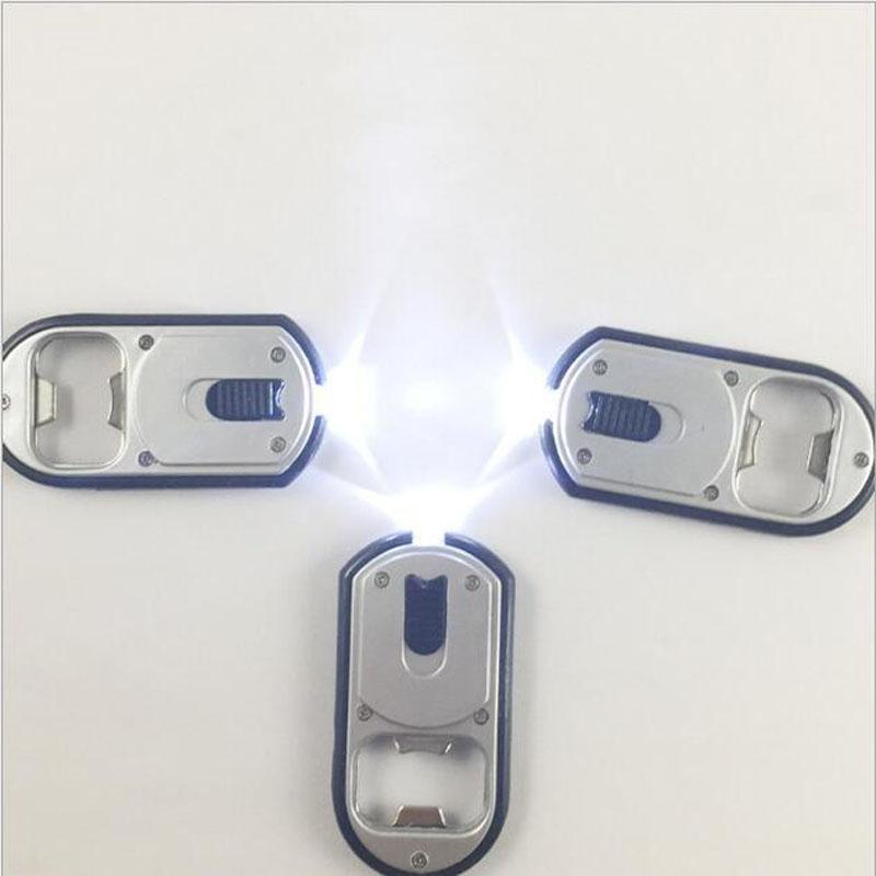Eco-Friendly Kitchen Tools 3 in 1 LED Flashlight Torch Keychain With Beer Bottle Opener Key Ring Chain Keyring 3*6.5cm
