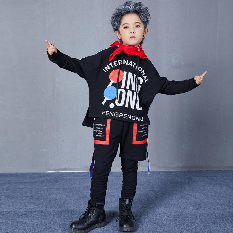 Autumn Hip Hop Jazz Dance Costumes for Kids Street Dance Clothes Sets Boys Girls High Fashion Street Wear Size 6 8 10 12 14 17 T (3)
