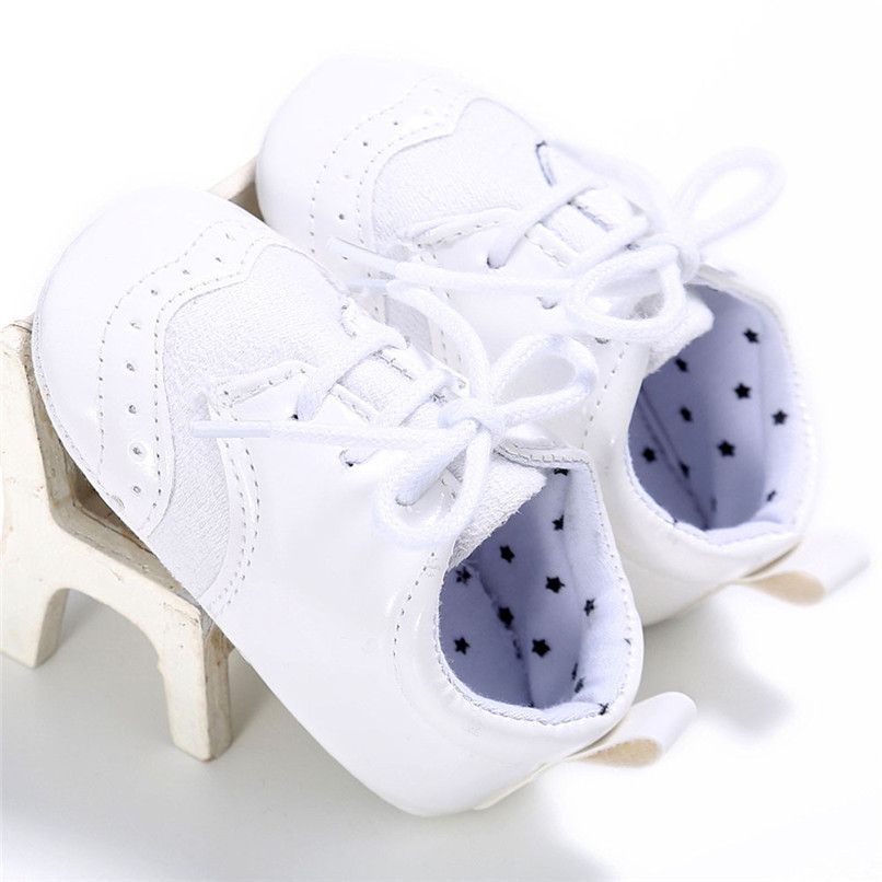 4 Color Baby Girls Shoes Fashion Newborn Infant Baby Girls Solid Lace-Up Shoes Soft Sole Anti-slip Sneakers First Walker M8Y04 (16)
