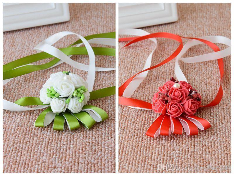 Ivory WeddingBobDIY Women Hairband Bride Hair Weath Girl Artificial Wedding Flowers Accessories