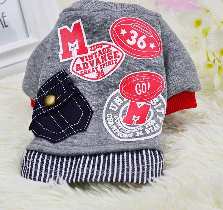 Autumn And Winter Dogs Clothes With Pocket Sweater Pets Warm Hoodies Clothing For Cats Puppy Apparels For Pets Wholesale