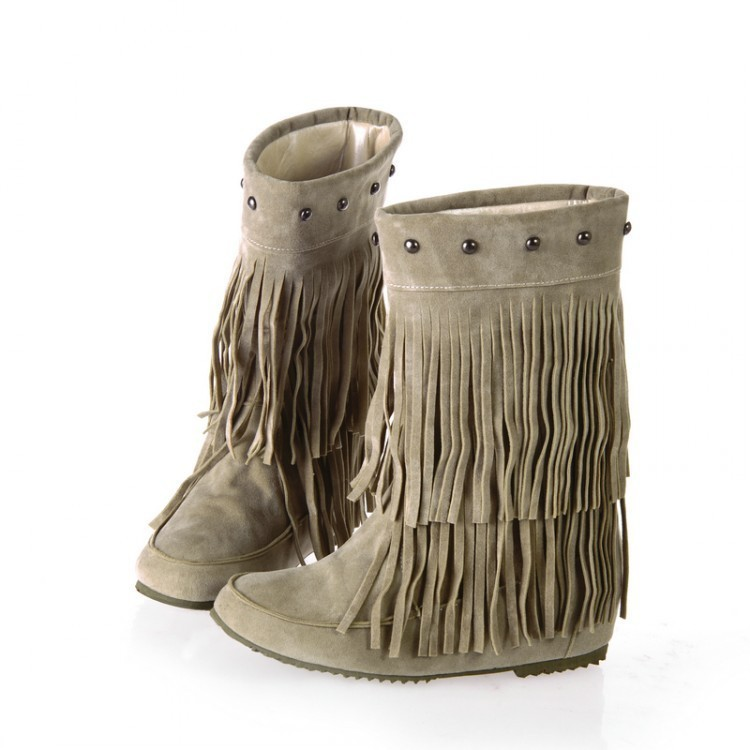 Sexy2019 England Short Canister Rivet Lady Tassels Within Increase Low Slope With Boots B191