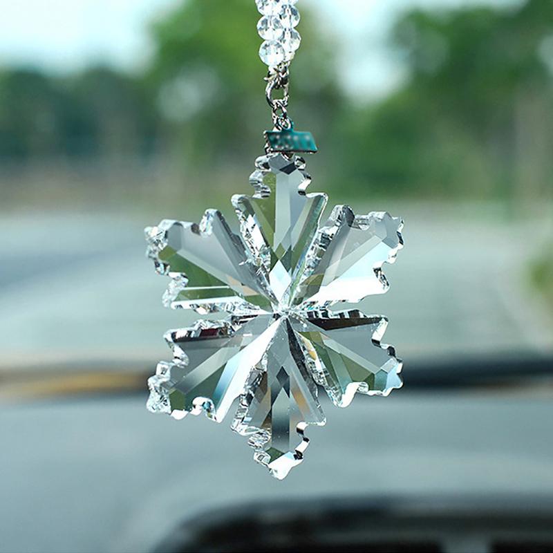 Blue UR URLIFEHALL Crystal Cat Eye Car Hanging Ornament Car Rear View Mirror Pendant Car Accessories Home Decor
