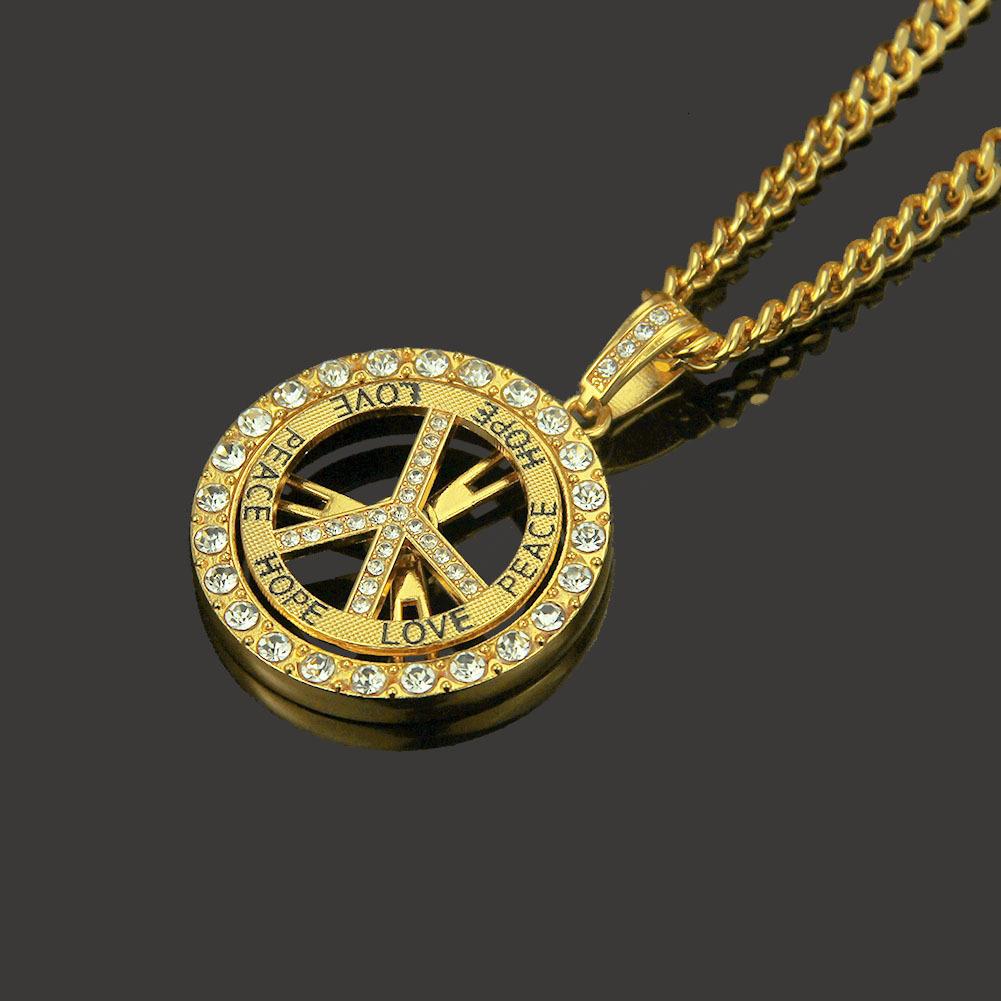 Personalidad Popular del Hip-hop Diamond Cut pendeloque pendiente del Mens joyas colgante de oro de diseño druzy enlace cubano
