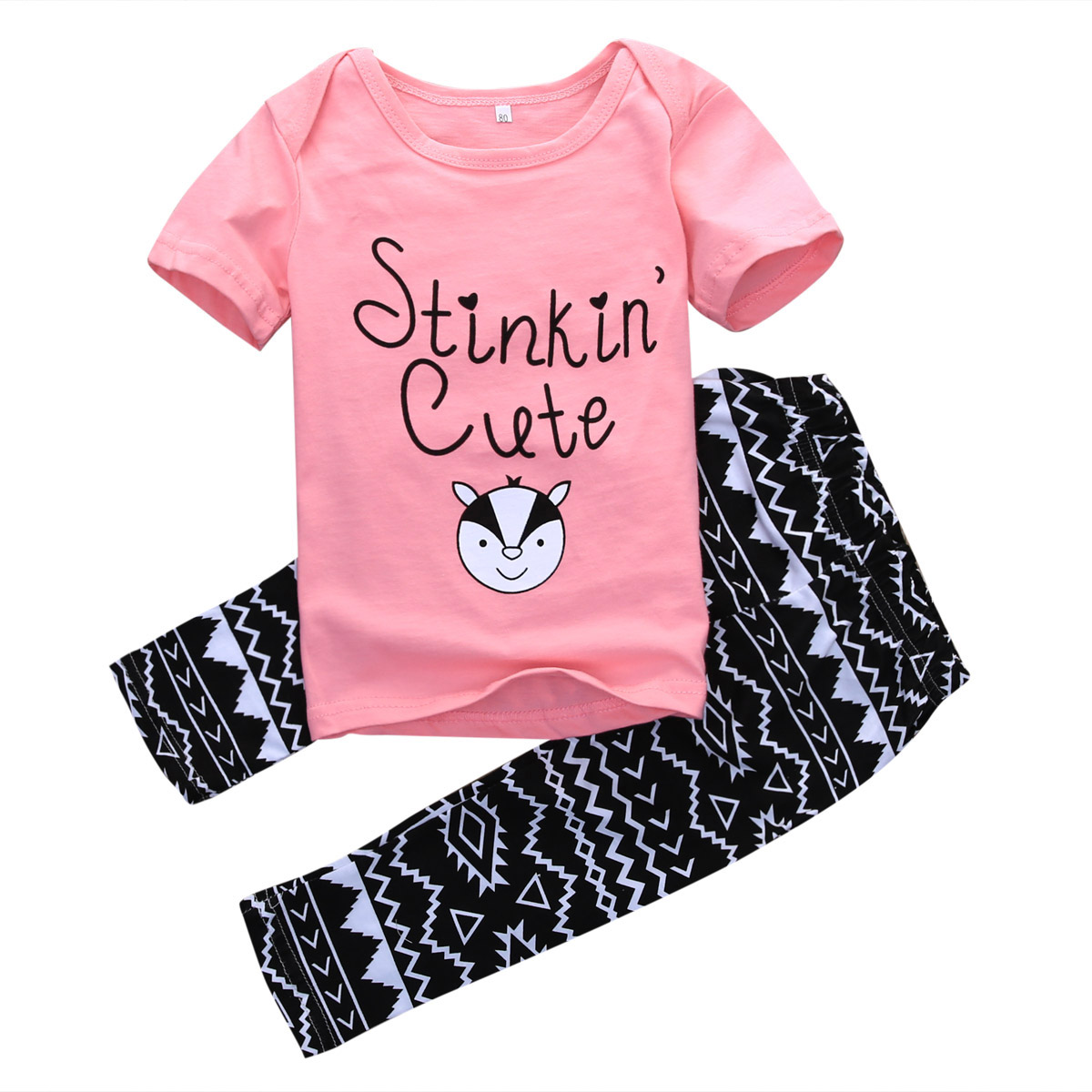 Toddler Infant Kids Baby Girls T-shirt Tops+Print Shorts 2PCS Outfits Clothes UK