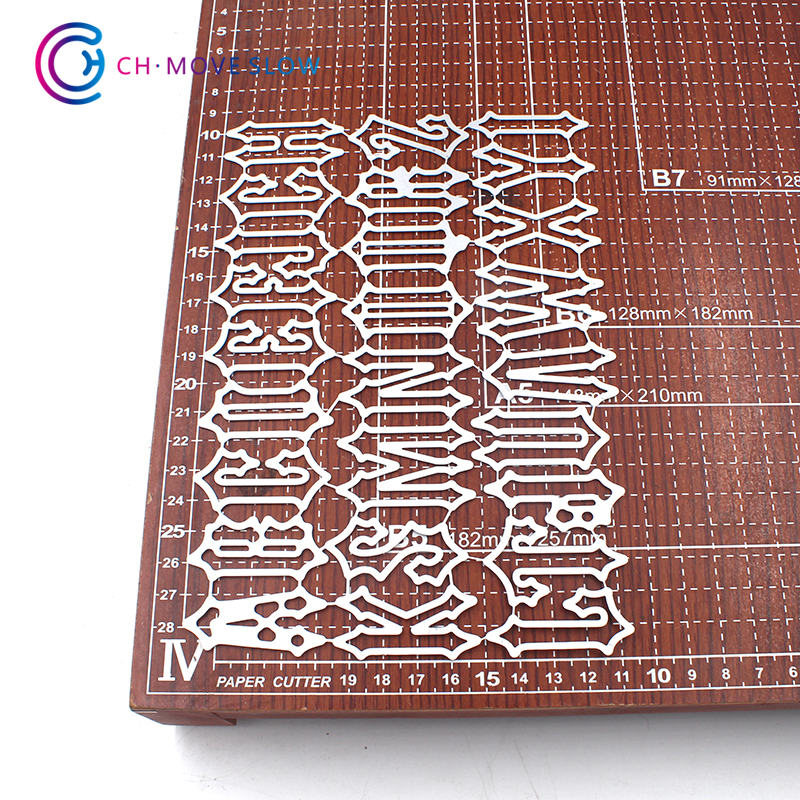 CH LETTER Metal Cutting Dies For Scrapbooking DIY Cards Album Decoration Embossing Folder Stencils Die Cutter Template