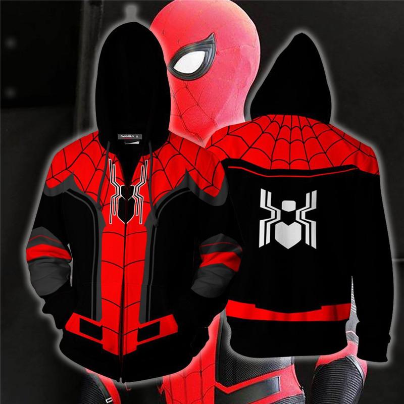 Lady SpiderMan Spider Gwen Jacket Stacy Hoodies Hooded Sweatshirt Zipper Coat uk