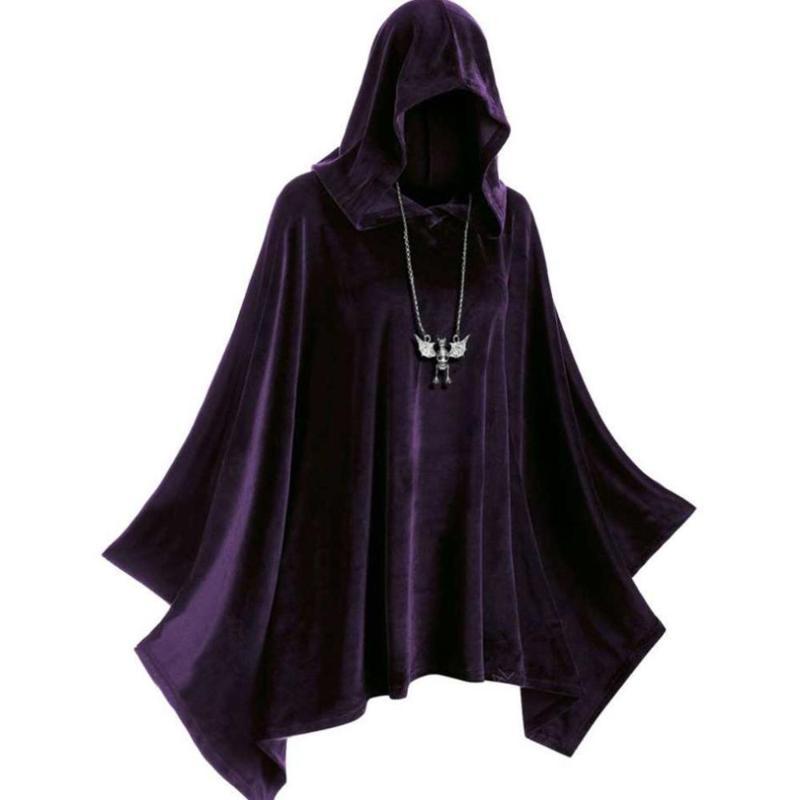 SPOOKY Men/'s Vampire Cloak Cape WARLOCK Satin Black Red Wine M to XXL Costume