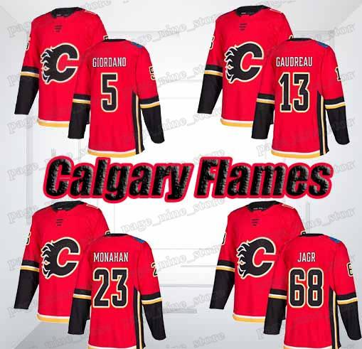 Calgary Flames Jersey 13 Johnny Gaudreau 5 Mark Giordano 68 Jaromir Jagr 23 Sean Monahan jersys