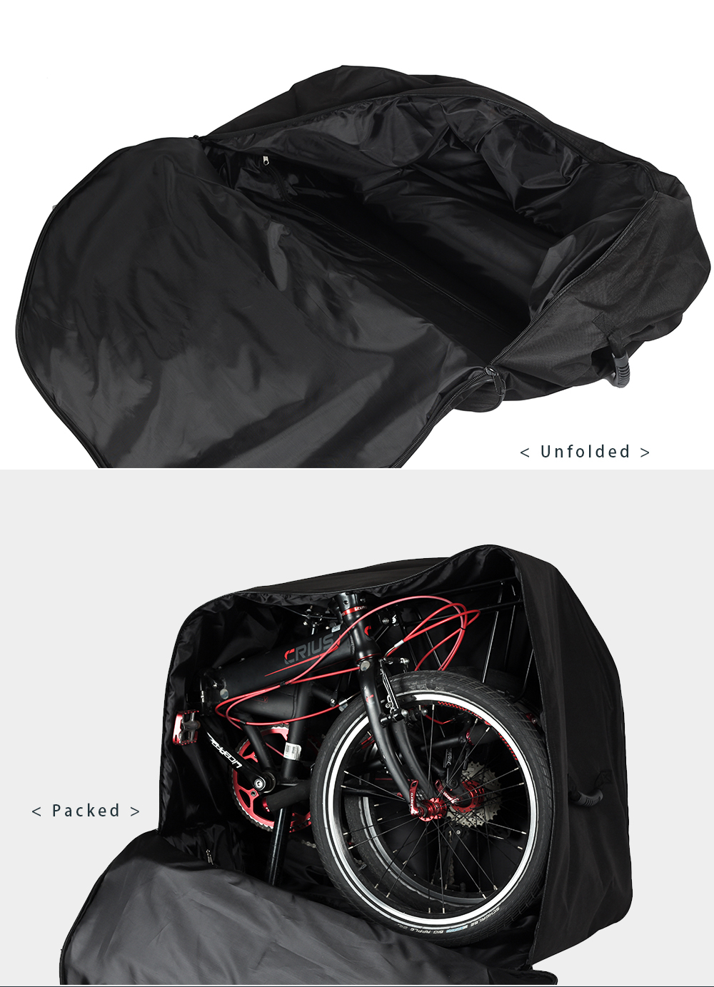 Rhinowalk Folding Bicycle Storage Bag Oxford Wear-resisting Luggage Cases for 20-22 Inch Folding Bike Electric Vehicles (12)