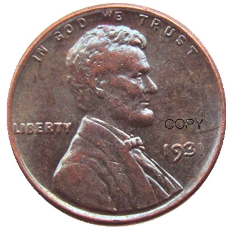 US 1931 P/S/D Wheat Penny Head One Cent Copper Copy Pendant Accessories Coins