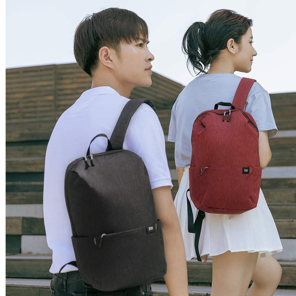 Color : 2# Xiao Jian Travel Leisure Small Backpack Smart with USB Charging Single Piece Men Black Blue Backpack