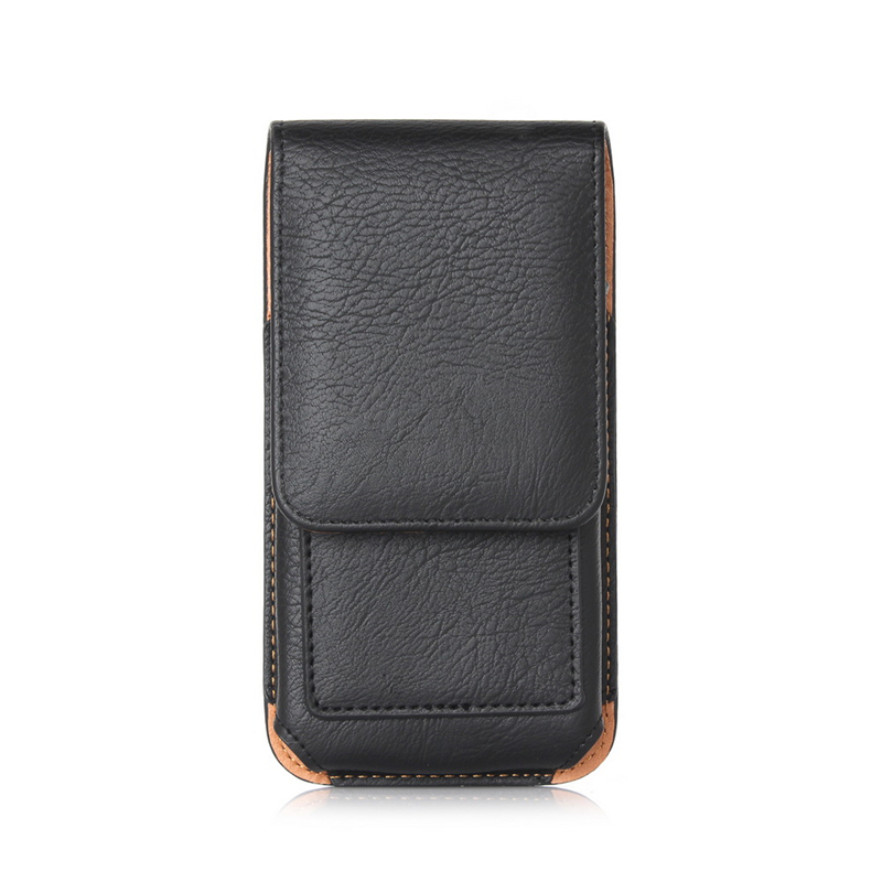 Men Waist Packs Belt Case with Leather Hook Loop Belt Clip Case Holster Pouch Sleeve Flip Cover Cell Phone Holder for iPhone Mi