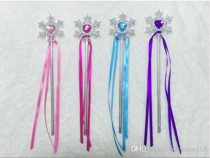 Eco-Friendly Fairy Wand Ribbons Streamers Christmas Wedding Party Snowflake Gem Sticks Magic Wands Confetti Props Decoration Events