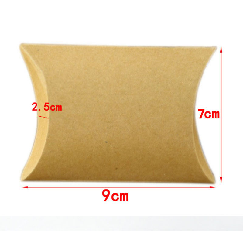 Fashion Colorful Kraft Paper Present Pouch Birthday Supply Chic Candy Box Gift Pillow Shaped Home Party Wedding Favors D19011702