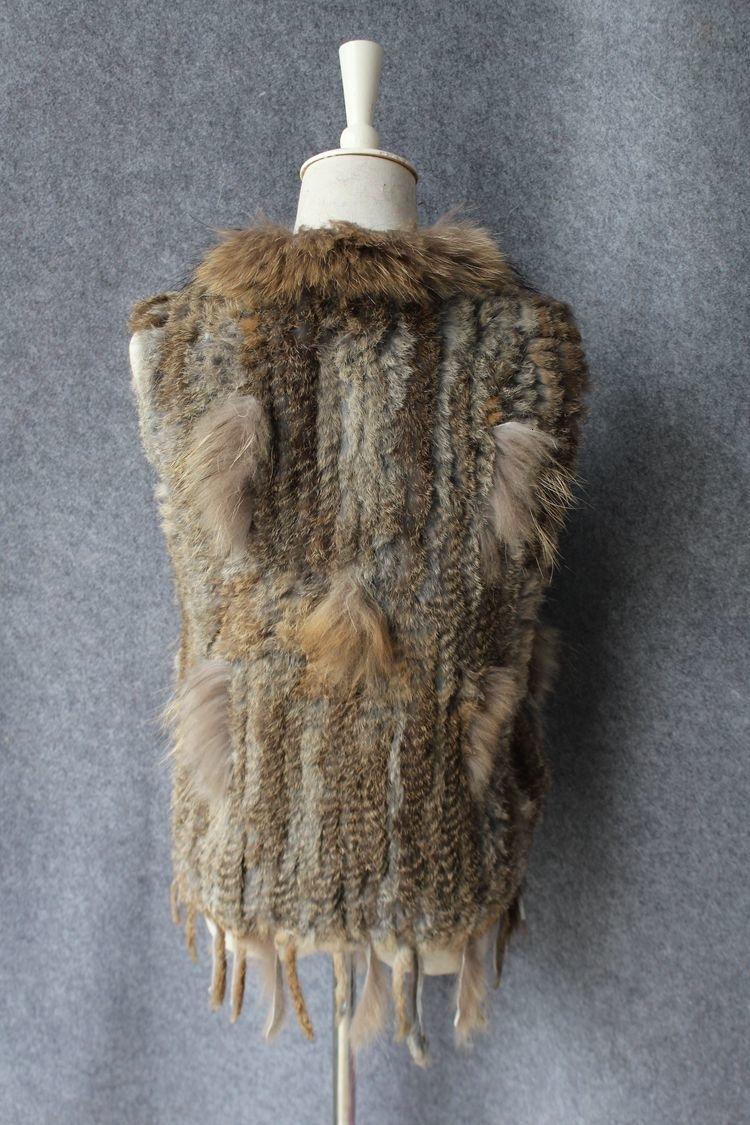 genuine real rabbit fur vest with raccoon fur collar (25)
