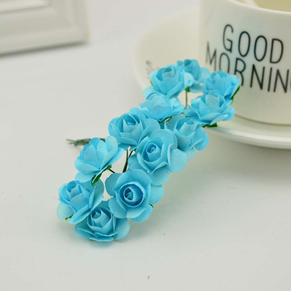 144pcs-1cm-cheap-Artificial-Paper-flowers-for-Wedding-car-fake-Roses-Used-For-decoration-Candy-box(11)