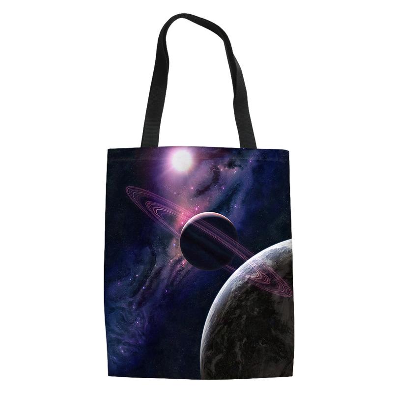Planet Universe Stars Tote Bag Purse Handbag For Women Girls