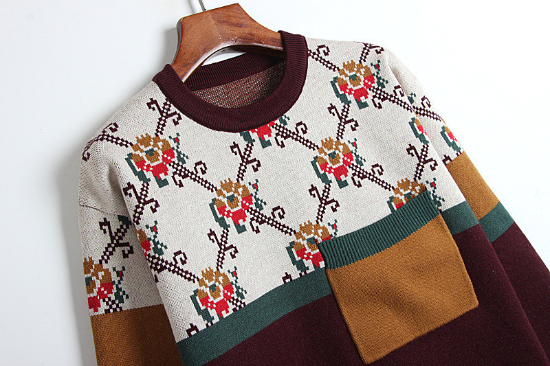 2020 Pull Femme Lazy Wind tricot Blouses T-shirts Splicing Weave veste Pull