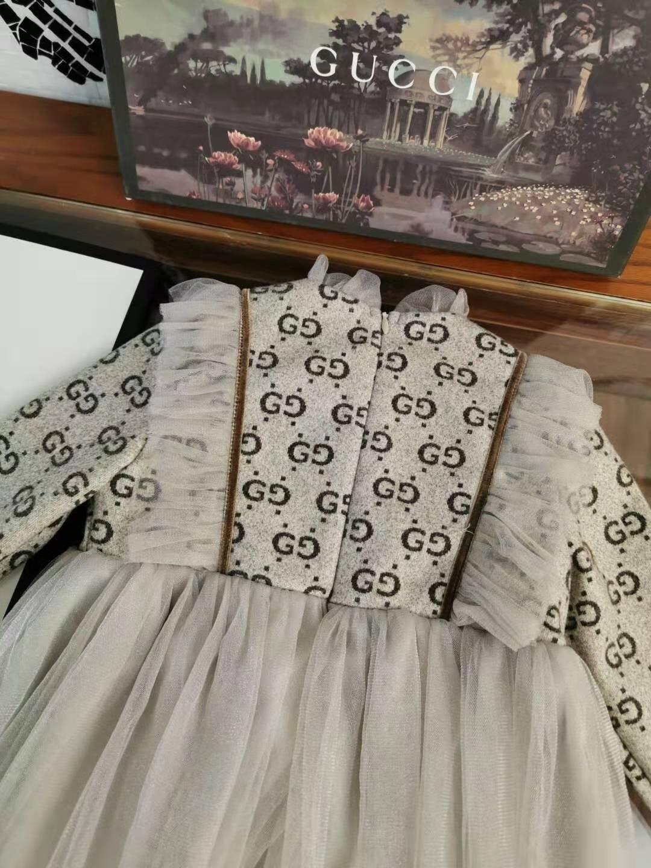 patrón de estilo pastoral falda de la ropa del algodón puro largo de la muchacha vestido de las mangas de otoño e invierno