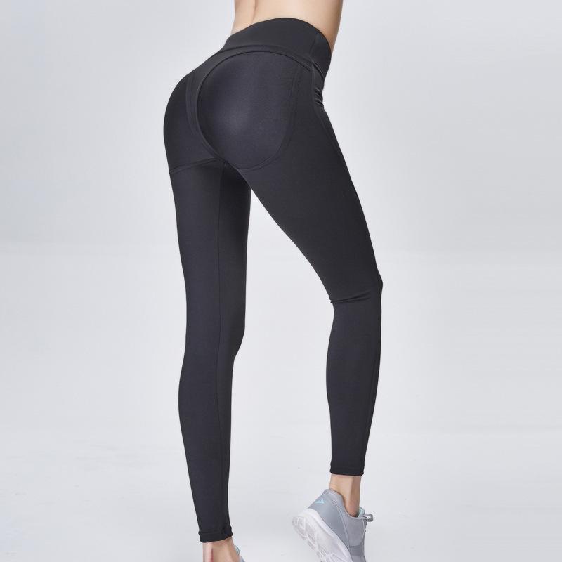 Qiaotun Yoga Pants Close Lift The Hips High Waist Sports Pants High Elastic Major Bodybuilding Solid Color Yoga Pants Woman