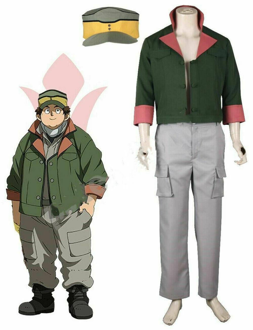 Anime Mobile Suit Gundam Unicorn  Military Uniform Short Sleeve Cosplay T-shirt