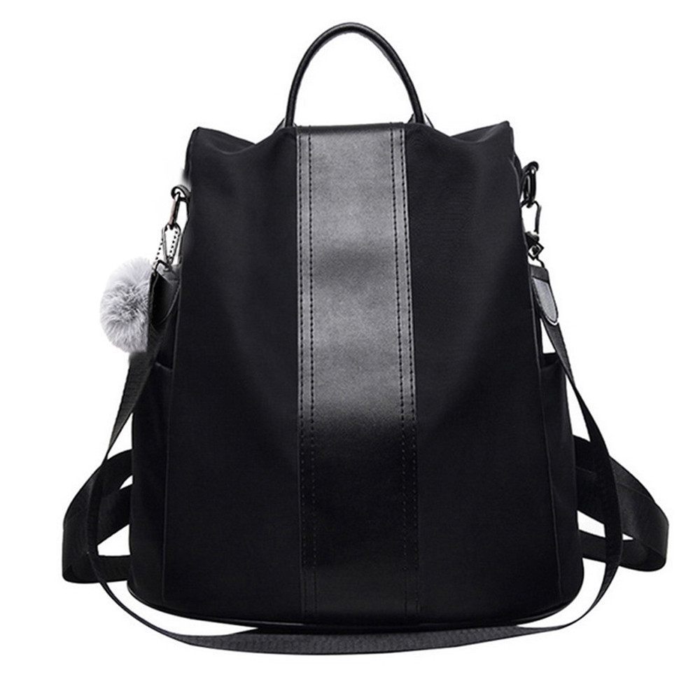 1women Backpack Anti-theft Design And Waterproof Nylon Fashion Backpack Neutral Schoolbag Travel Bag