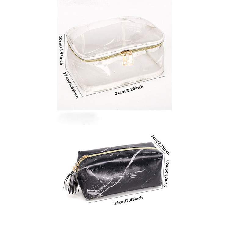 PVC transparent Kosmetiktasche Veranstalter Reise Kulturbeutel Set rosa Beauty Case Make-up Fall Kosmetikerin Vanity Necessaire Reise