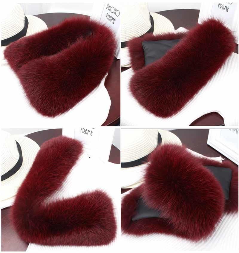 fox fur collar wine red 2