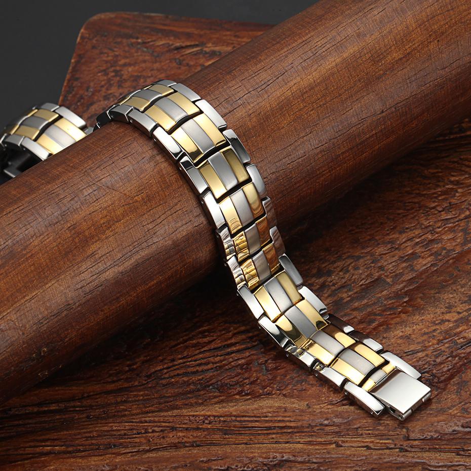silver gold Titanium Bracelets (11)