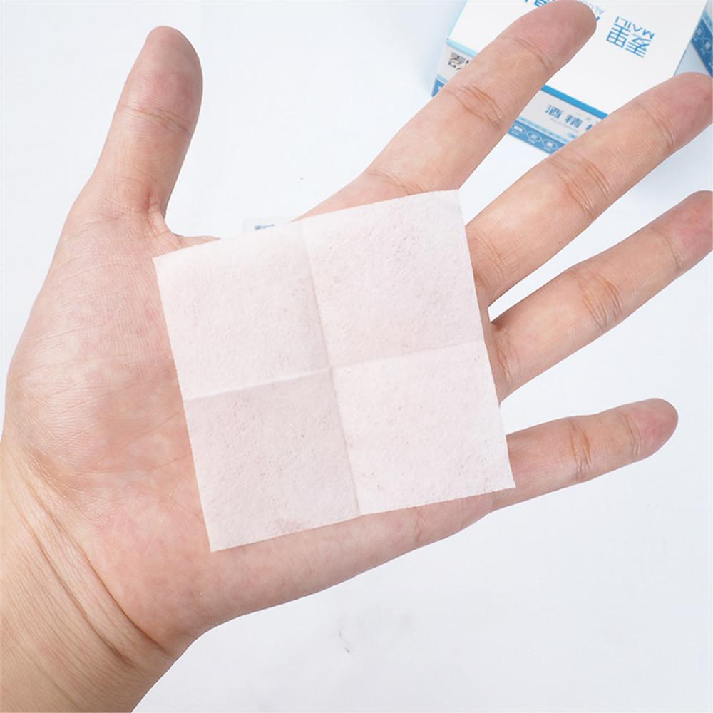 100pcslot Alcohol Prep Swap Pad Wet Wipe For Antiseptic Skin Cleaning Care Jewelry Mobile Phone Glasses Clean Tool Alcohol Pads (6)
