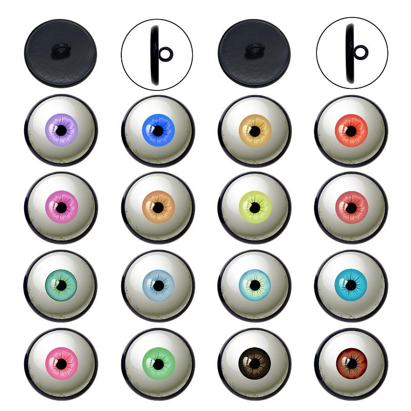 100pcs DIY Plastic Movable Wiggly Eyelash Kid/'s Dolls Eye Decorations 15mm