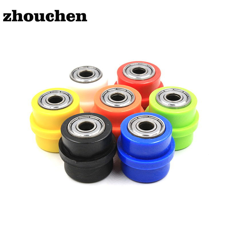 4Pcs 8*32*12mm White POM Coated Tire Wheel Arc Ball Bearing for Furniture Pulley