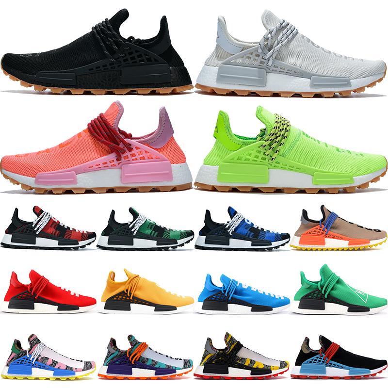 Avec boîte espèces infinies NMD Human Race chaussures de course hommes femmes connaissent soul Pharrell Williams Hu Solar Pack nude oreo mens trainers