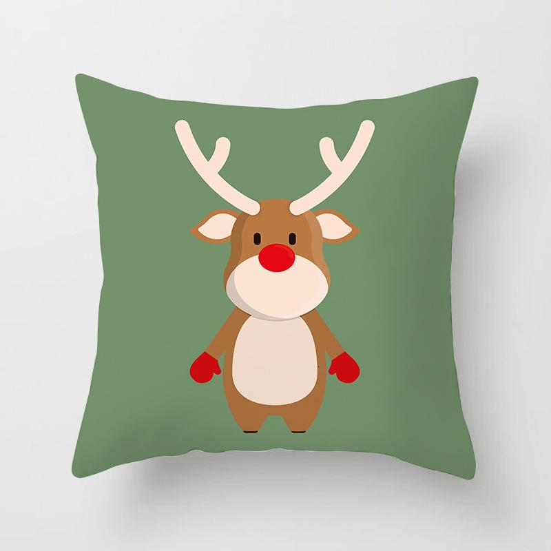 1Pcs 4545 Cm Happy New Year Christmas Decorations for Home Cartoon Santa Claus Xmas Decorative Pillows Cover adornos navidad (21)