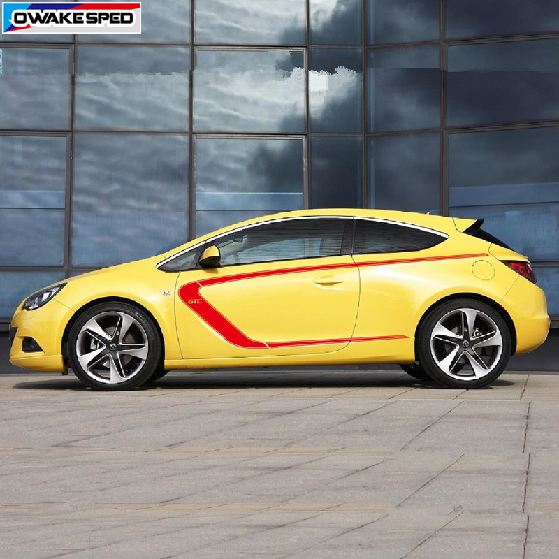 For Opel Astra GTC Racing Sport Styling Vinyl Decal Auto Body Door Side Decor Stickers Car Protection Accessories (4)